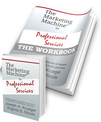 Marketing Machine for Professionals book and worlkbook